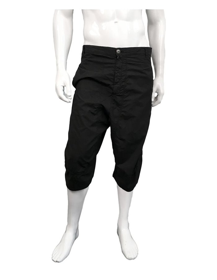 ANDREA YA'AQOV LONG COTTON SHORTS BLK