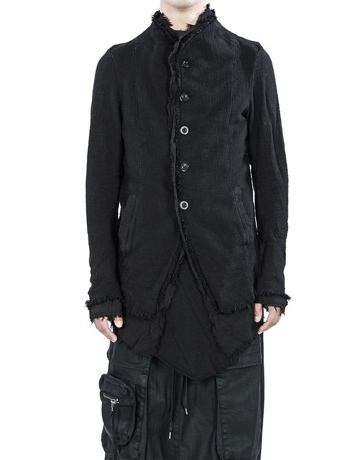 ARMY OF ME LAYERED BUTTON UP JACKET  BLACK