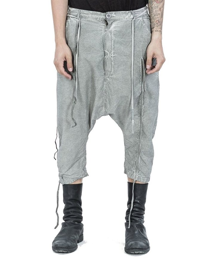 ARMY OF ME LIGHT CROPPED COTTON TROUSERS CLAY