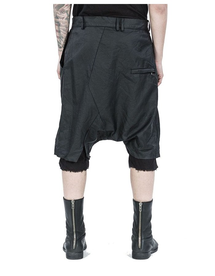 ARMY OF ME LAYERED LINEN SHORTS BLACK