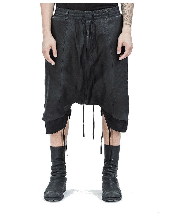 ARMY OF ME LAYERED LEATHER SHORTS
