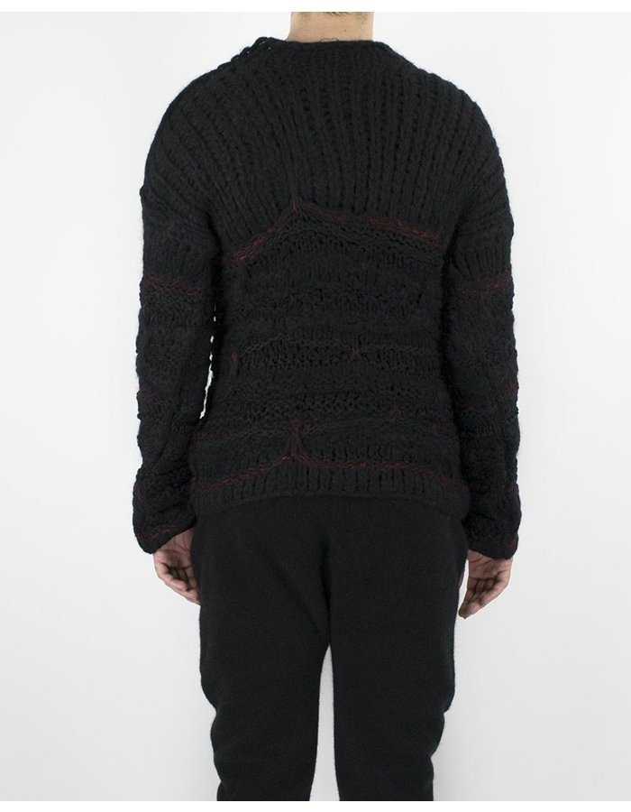 ISABEL BENENATO KNIT CREW NECK BLACK