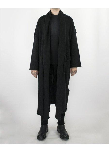 ISABEL BENENATO KNIT LONG CARDIGAN BLACK