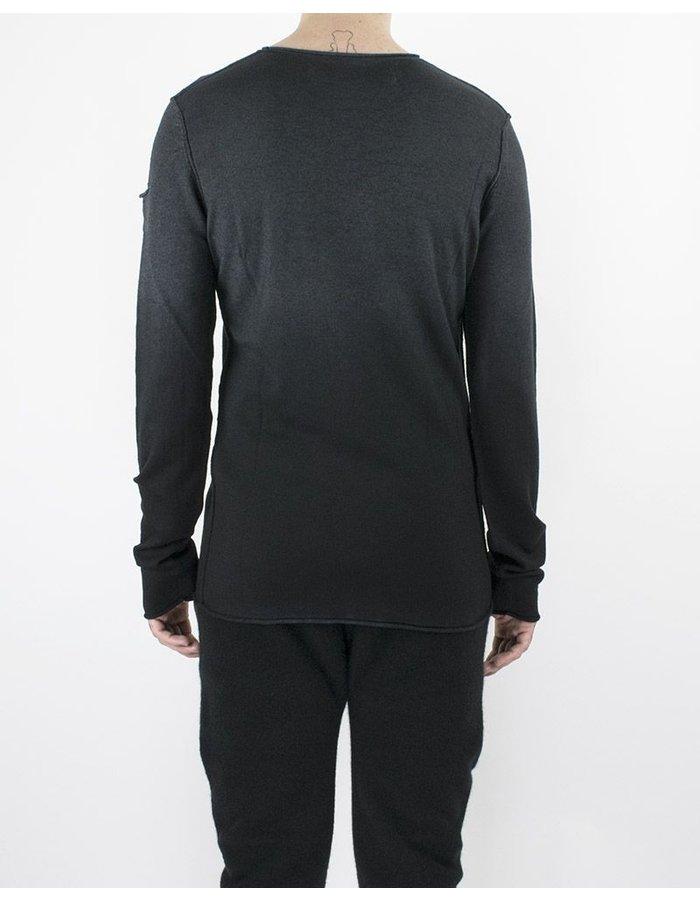 ISABEL BENENATO KNIT V NECK BLACK/GREY