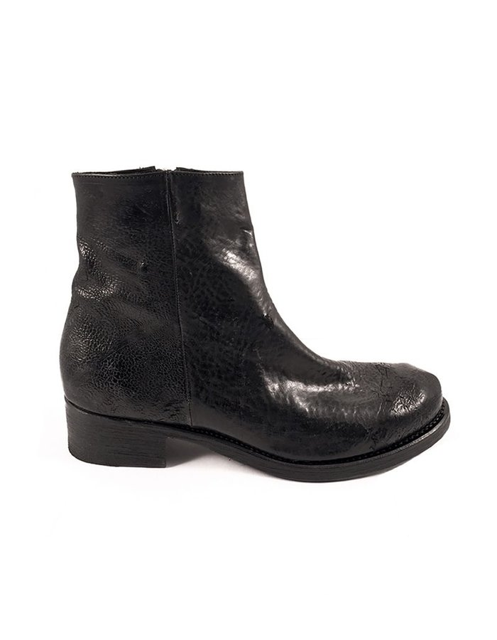 THE LAST CONSPIRACY HERLUF REVERSED LEATHER ZIP BOOT