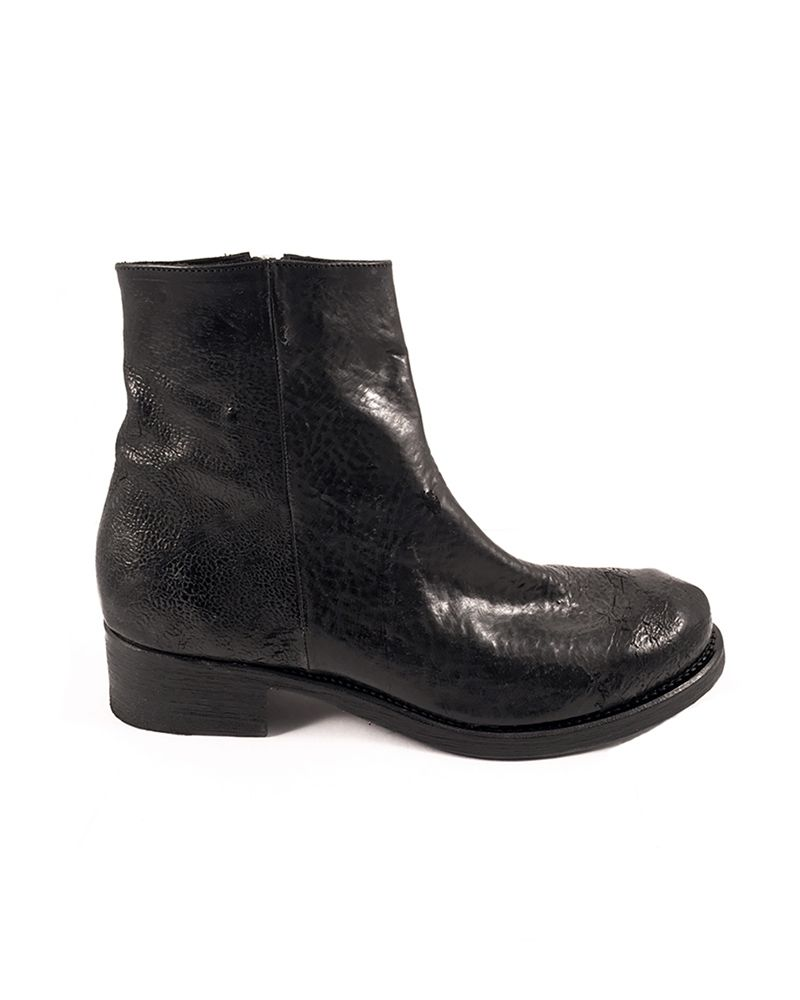 HERLUF REVERSED LEATHER ZIP BOOT