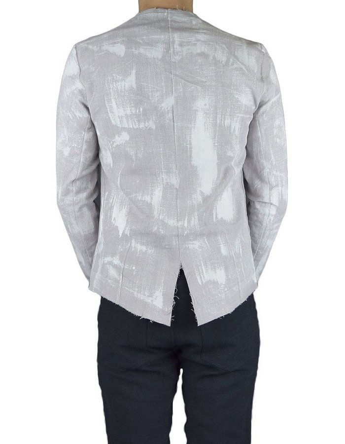 ATELIER AURA WHITE HAND PAINTED LINEN JACKET