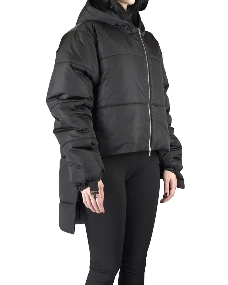 PADDED JACKET WITH ZIP ARMS AND HOOD