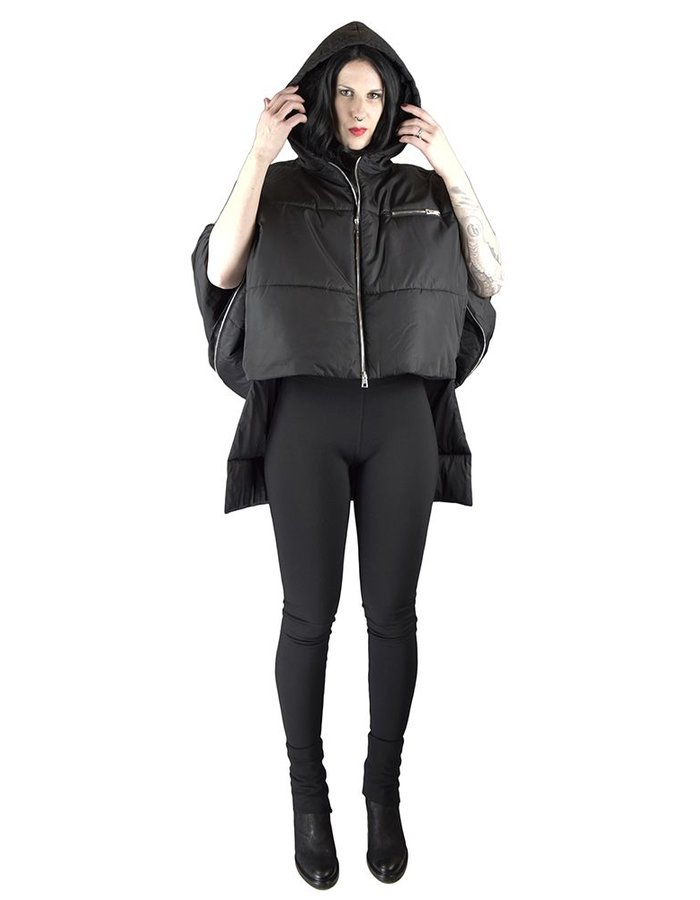 BARBARA BOLOGNA PADDED JACKET WITH ZIP ARMS AND HOOD