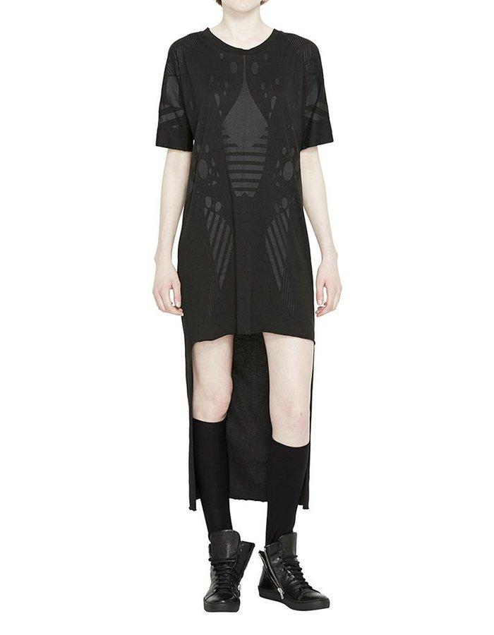 BARBARA I GONGINI DRESS COTTON MODAL -BLACK