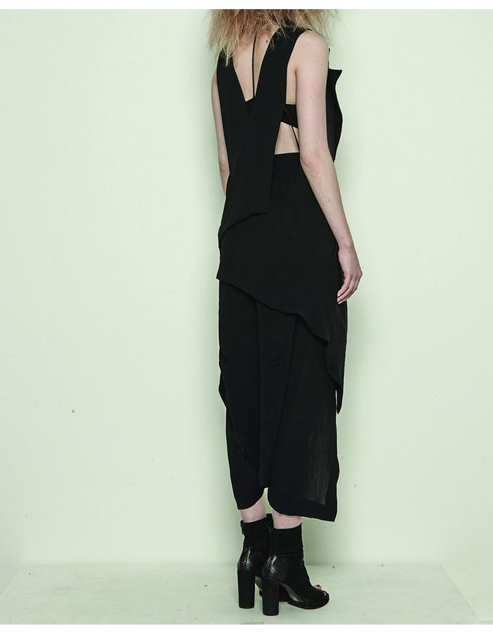 BARBARA I GONGINI LONG VEST WITH FRONT PANEL DETAILS