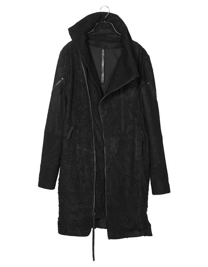 BARBARA I GONGINI SHREDDED LEATHER COAT