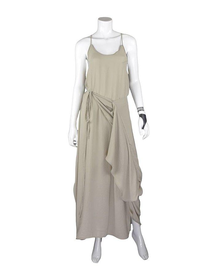 BARBARA I GONGINI SLEEVELESS DRESS MUD