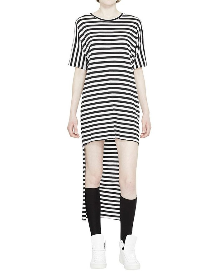 BARBARA I GONGINI STRIPE DRESS COTTON/MODAL