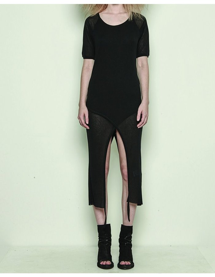 BARBARA I GONGINI T SHIRT DOUBLE LAYER WITH STRINGS