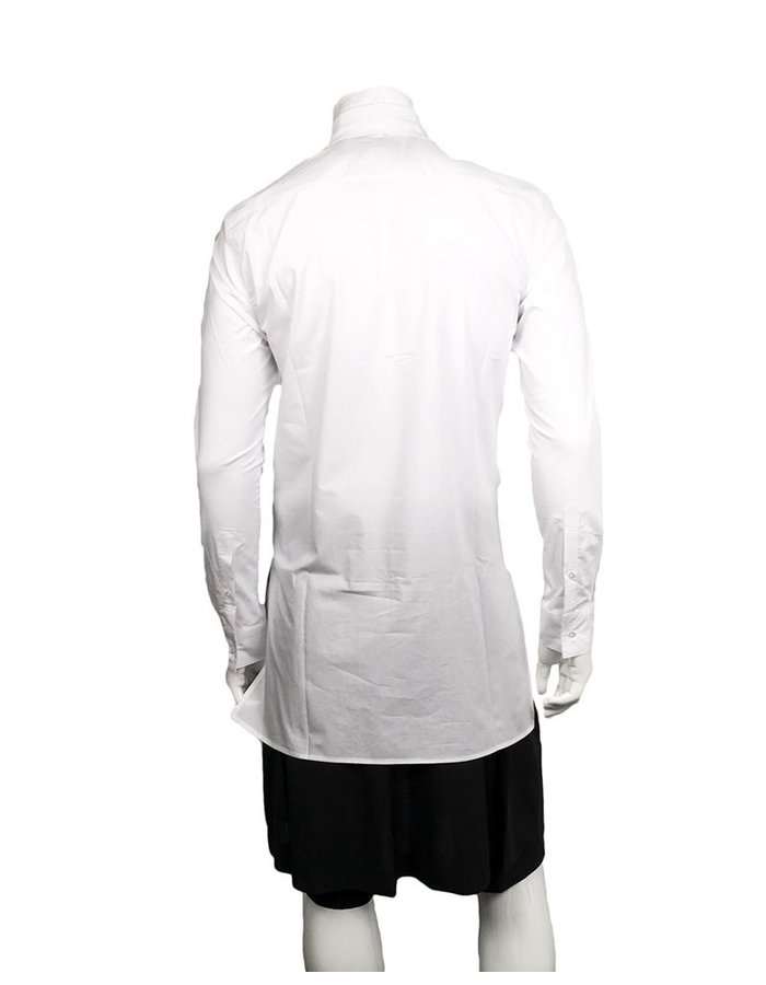 D.GNAK ZIP FRONT SHIRT WHITE