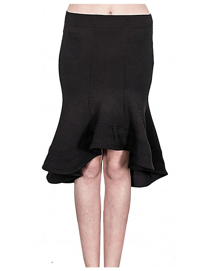 DAVID'S ROAD TAIL SKIRT BLK