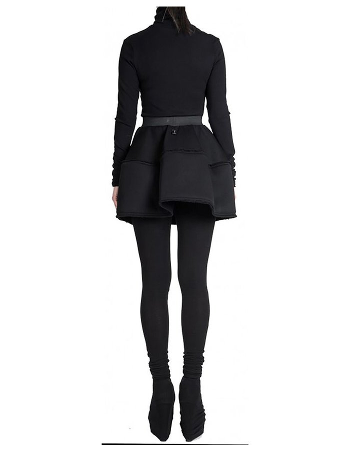 DAVID'S ROAD POUF MINI SKIRT BLK
