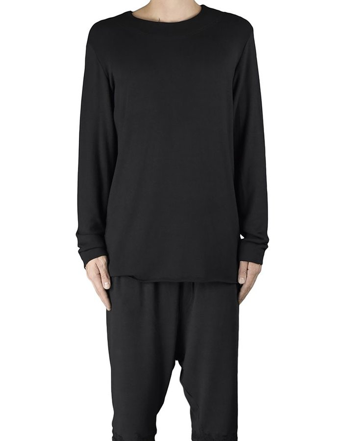 DAVID'S ROAD VISCOSE LONGSLEEVE TOP BLK