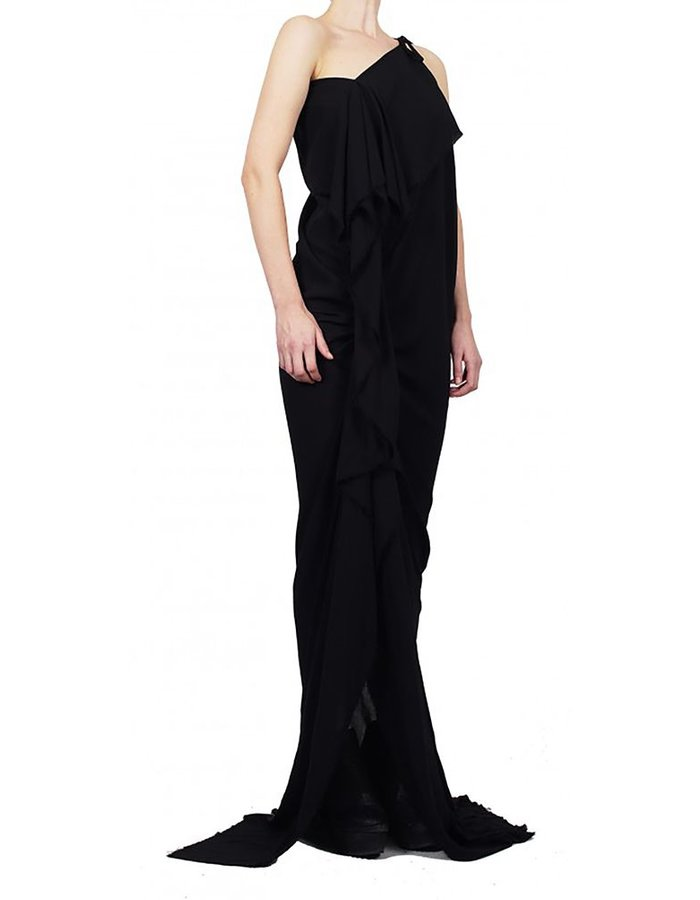 DAVID'S ROAD RUCHED MAXI DRESS