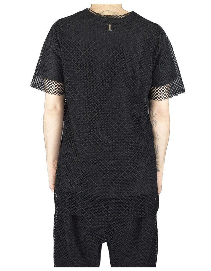 DAVID'S ROAD TSHIRT WITH VELVET MESH