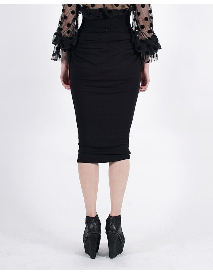 DAVID'S ROAD MIDI SKIRT WITH SIDE DETAIL