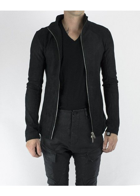 10SEI0OTTO AGED STRETCH LEATHER ZIP FRONT JACKET