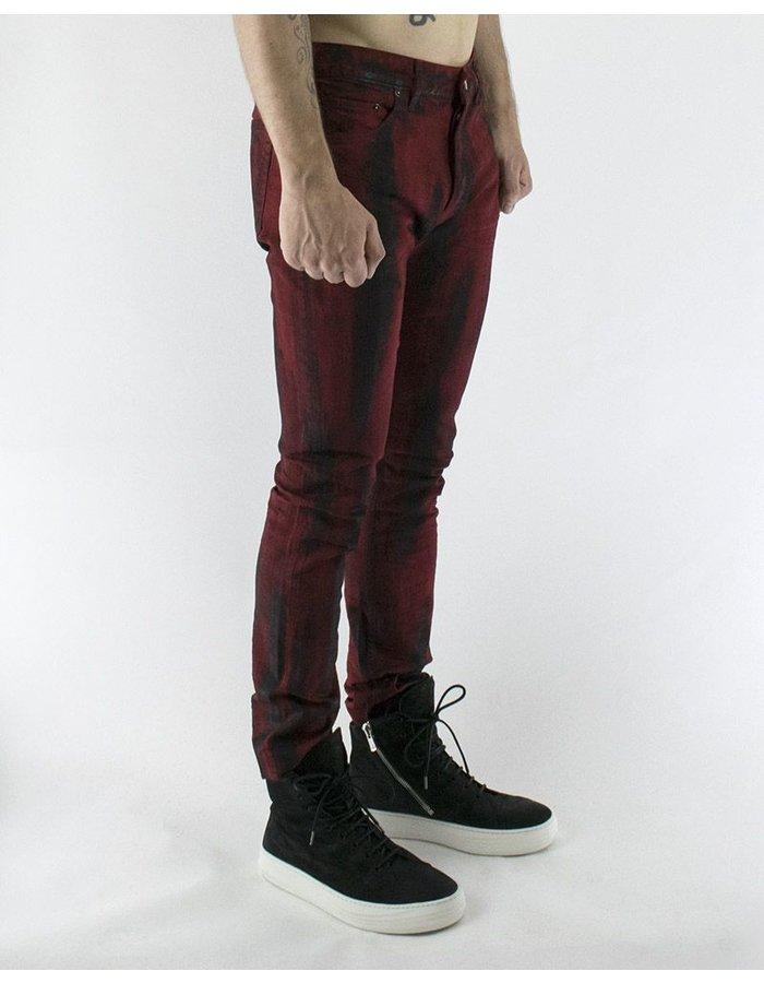FAGASSENT BRUSHED RED BLACK JEAN