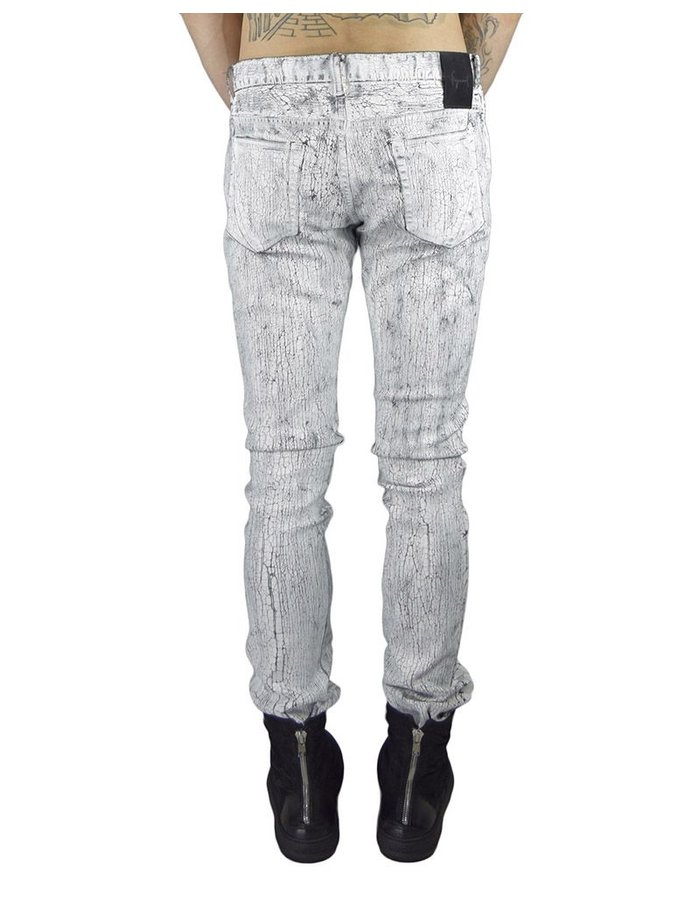 FAGASSENT WHITE TEAR  COATED JEAN