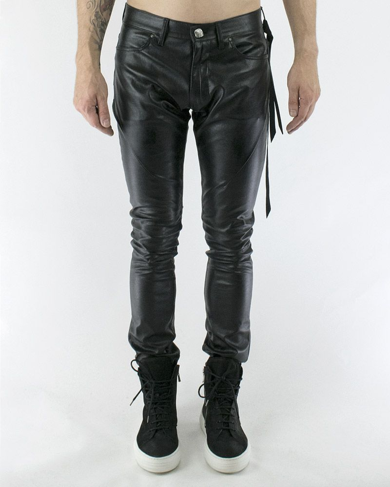 VEGAN LEATHER SKINNY JEANS