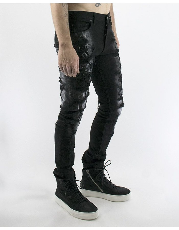 FAGASSENT ANDREA WAXED CRUSHED DISTRESSED JEAN
