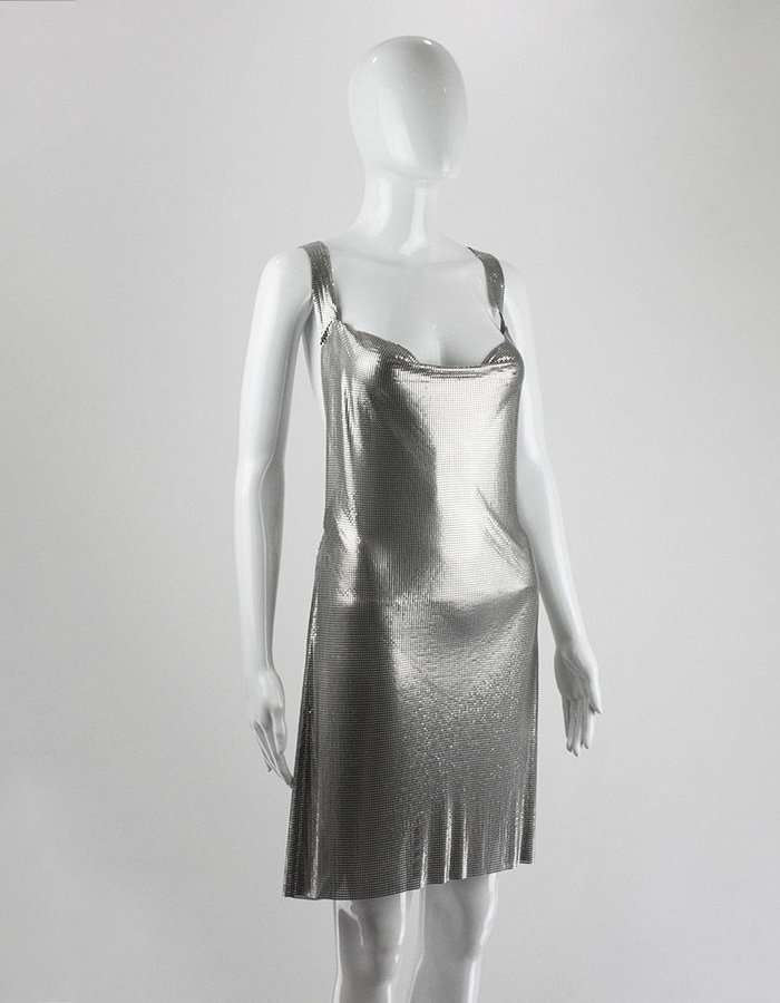 FANNIE SCHIAVONI DRESS IN METAL MESH