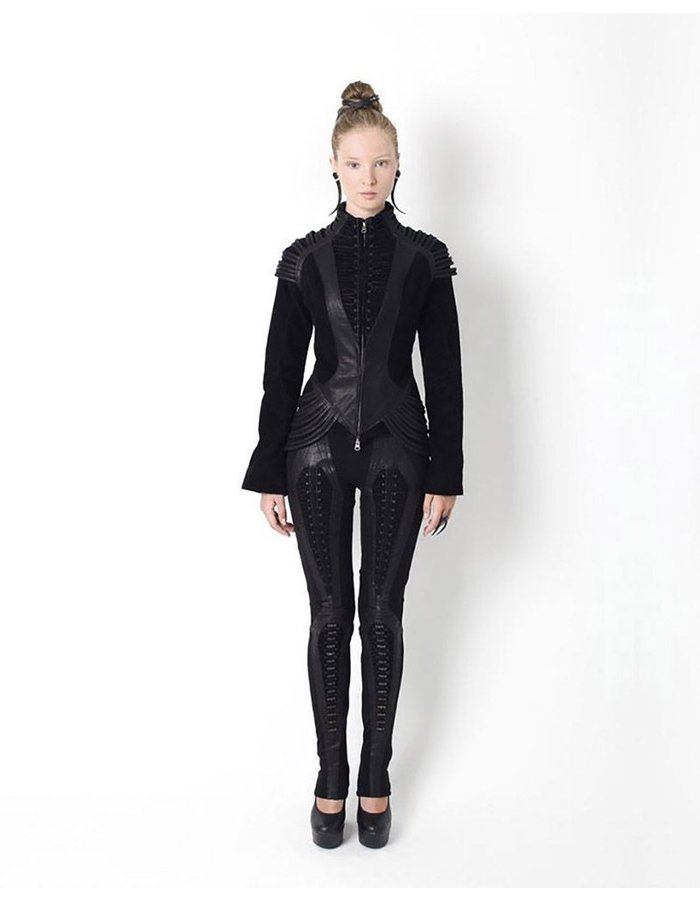 GELAREH DESIGNS LACED STILH COAT