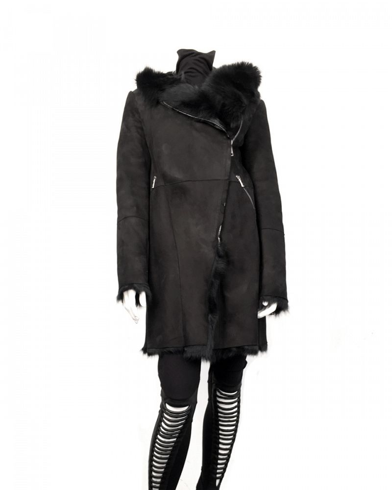 BRATO WOMENS SHEARLING COAT