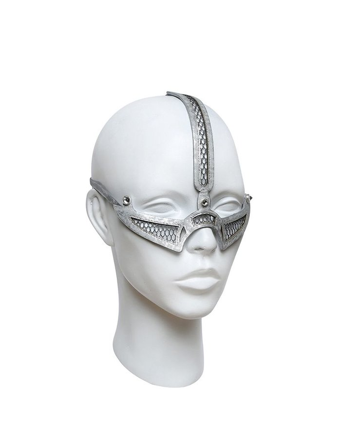 HOUSE OF MALAKAI CRESCENT MOON MASK :SLVER