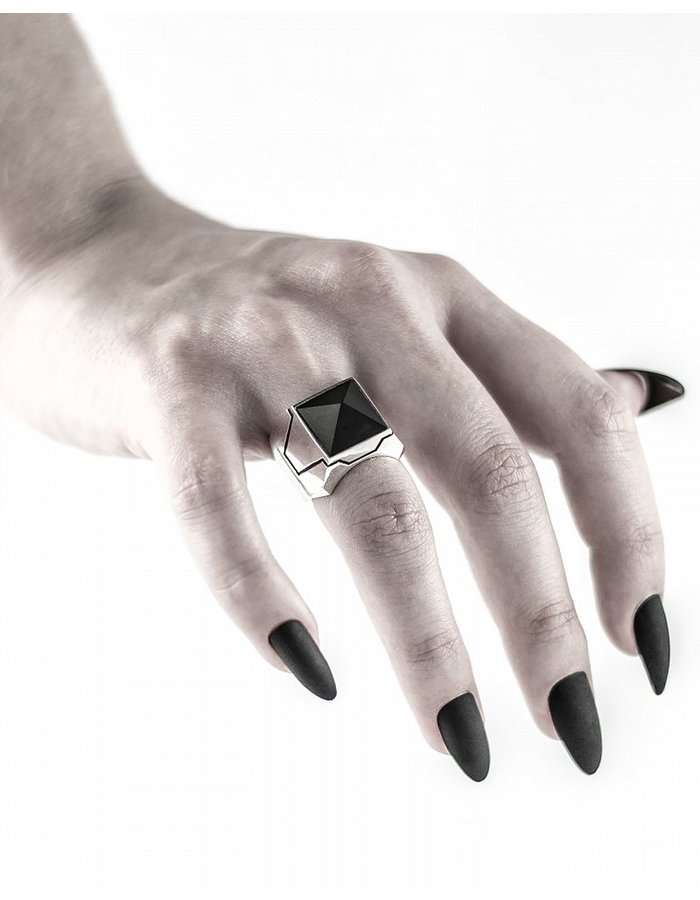 INTENEBRIS by JS MATT ONYX STERLING RING