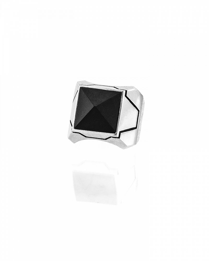 MATT ONYX STERLING RING
