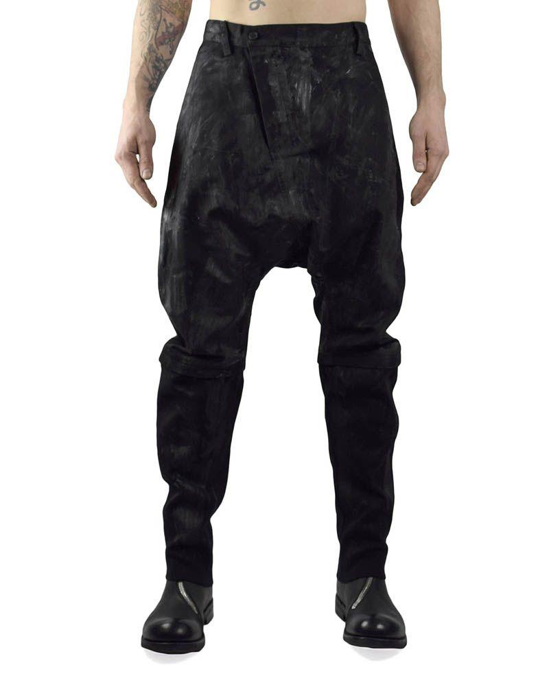 MEN'S WOVEN PAINTED CURVE PANTS