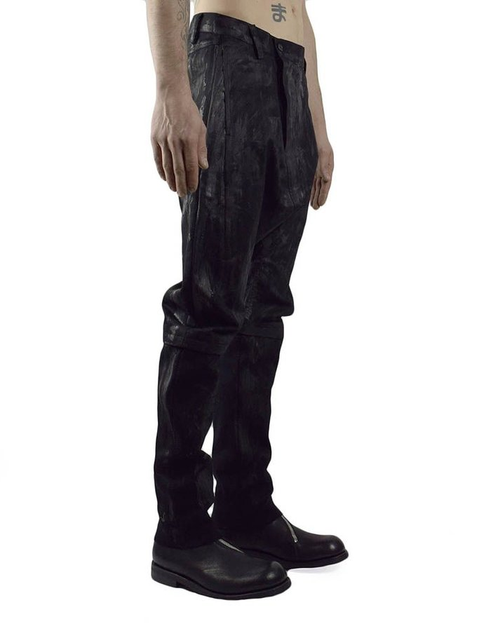 JOE CHIA MEN'S WOVEN PAINTED CURVE PANTS