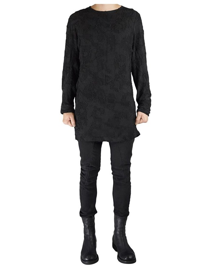 KAI DUNKEL RELAXED LONG SLEEVE TEE IN TEXTURED  FABRIC