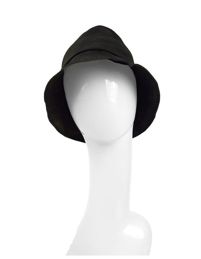 KLOSHAR HATS MILES LEATHER HAT: BLACK