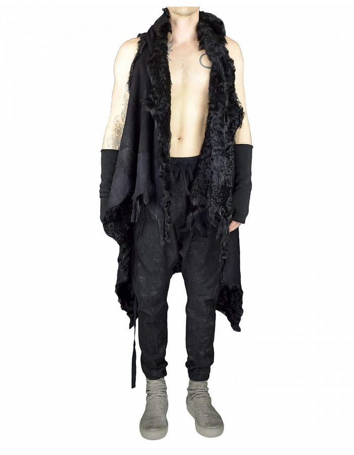 WILD BY ANDREA WILD WILD LONG SHEARLING CAPE