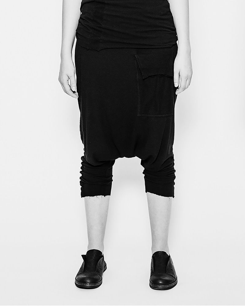 RELAXED FIT 3 POCKET TROUSER BLACK