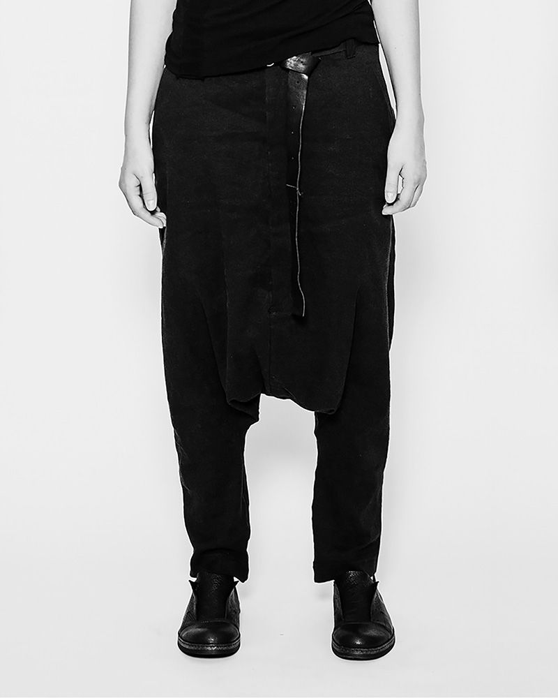LOW DROP CROTCH TROUSER