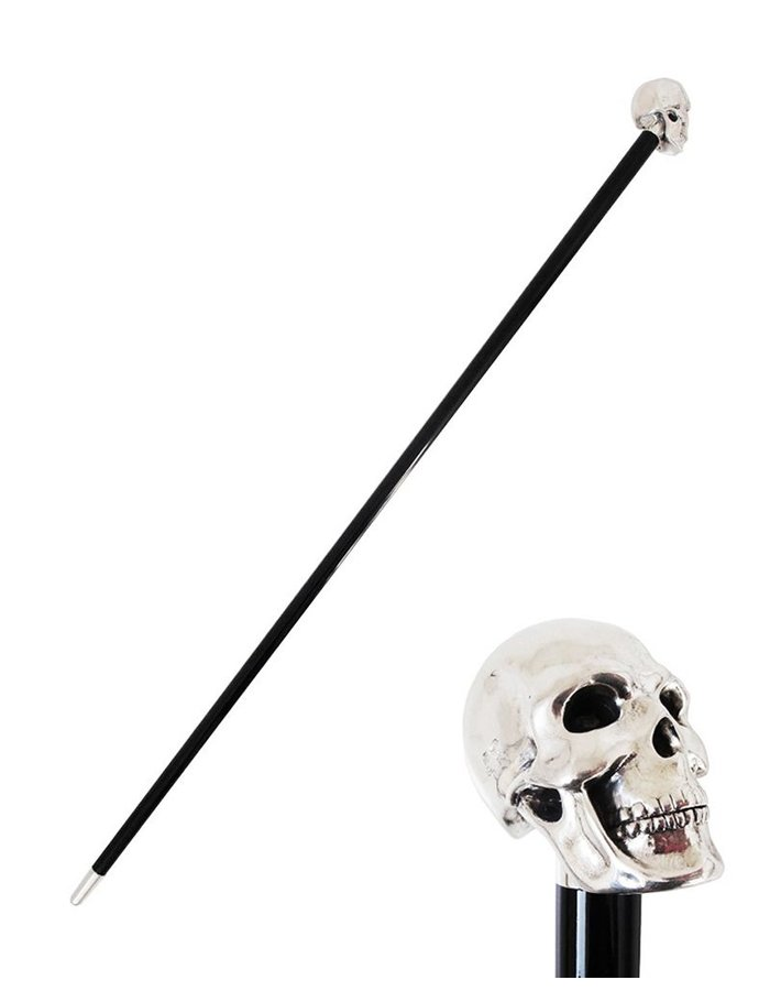 PASOTTI WALKING STICK SILVER SKULL