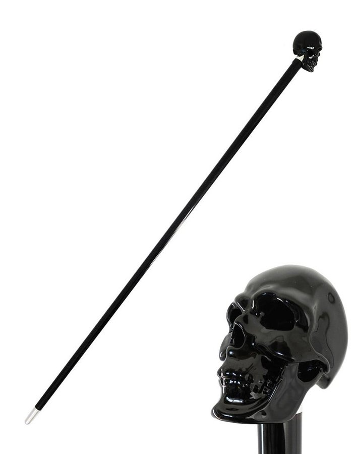 PASOTTI BLACK SKULL WALKING STICK