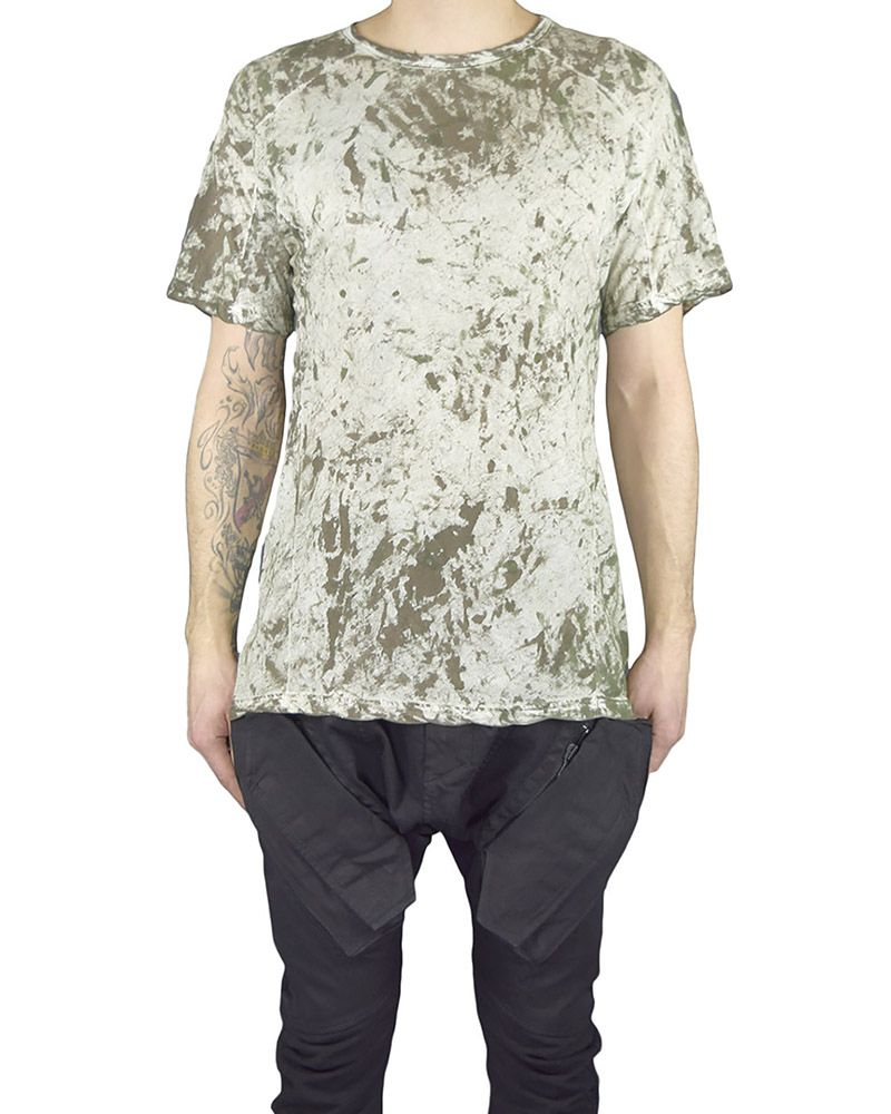 HAMCUS FITTED TEE:MOSS