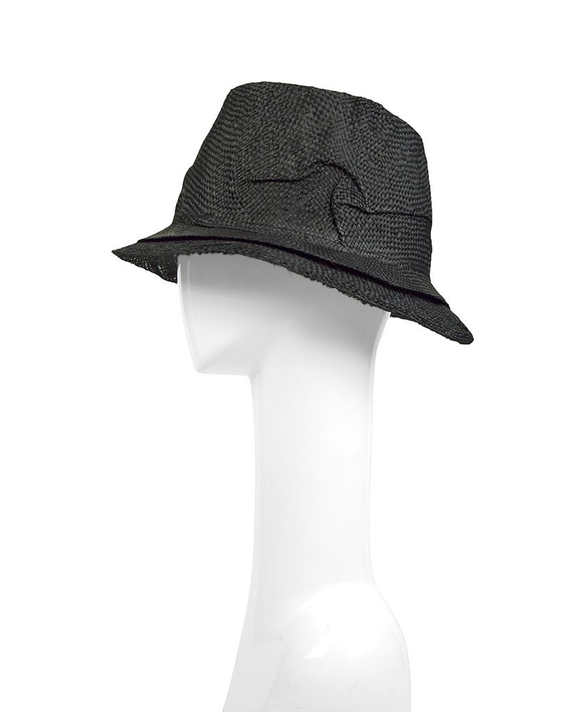 HOMBRE STRAW HAT :BLK