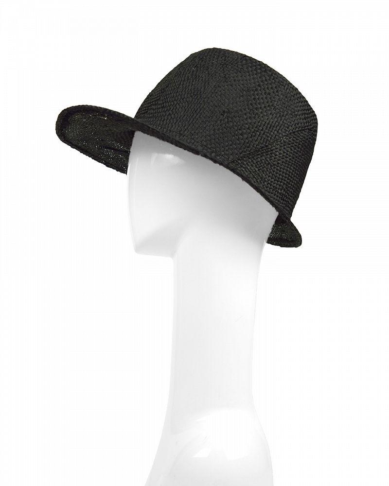 STREGA CAP  RAMIE STRAW :BLK