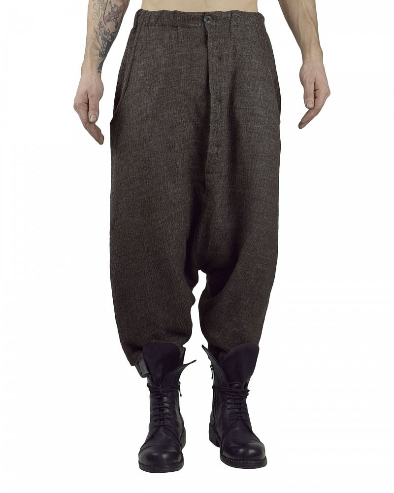DROP CROTCH PANT MERINO MODAL